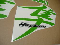 Lime green decals & customized sticker kit for Busa 1340