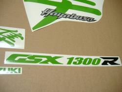 Lime green decals & custom graphics for Suzuki Busa 1300 (99-01)