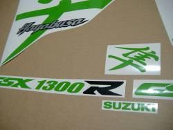 Suzuki Hayabusa 1999 (1st gen) lime green kanji logo stickers