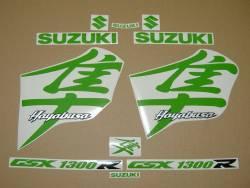 Suzuki Hayabusa k1 (1st gen) lime green kanji logo graphics