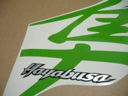 Suzuki Hayabusa k1 (1st gen) lime green kanji logo decal set