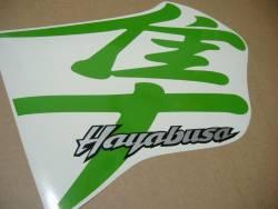 Suzuki Hayabusa 1999 (1st gen) lime green kanji logo decal kit