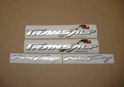 Honda Transalp XL 650V 02 black full decals kit