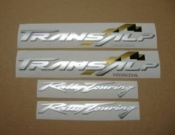 Honda Transalp XL 650 01-02 red replica decals set