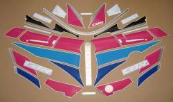 Honda CBR 600F2 black/pink complete replacement graphics