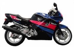 Honda CBR 600F2 black/pink complete replacement stickers
