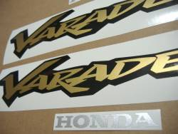 Honda Varadero XL 125cc 2000 silver complete stickers set