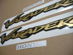 Honda Varadero XL 125cc 2000 silver complete adhesives set