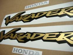 Honda Varadero XL 125cc 2000 silver replacement stickers