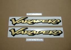 Honda Varadero XL125V 2001 blue restoration stickers
