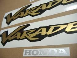Honda Varadero XL125V 2001 blue reproduction stickers