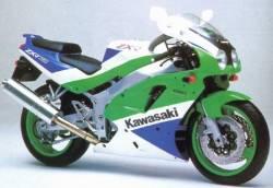 Kawasaki ZXR 750 Ninja '91 J1 green replacement stickers