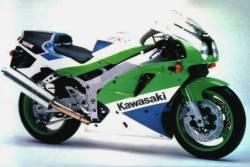 Kawasaki ZXR750 ninja '92 J2 green/red reproduction decals