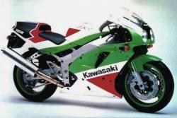 Kawasaki ZX-R 750 ninja 1992 J2 green/red replacement stickers