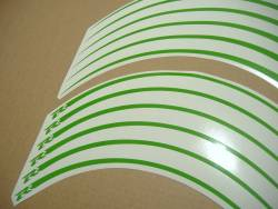Lime green wheel/rim stripes graphics set for Suzuki GSXR