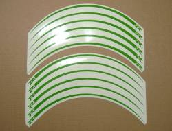 Lime green wheel/rim stripes decal set for Suzuki GSXR