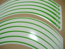 wheel/rim stripes set for Suzuki GSXR in poison green color