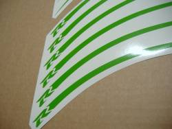 Lime green wheel/rim stripes sticker set for Suzuki Gixxer