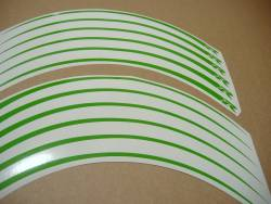 Lime green wheel/rim stripes decal set for Suzuki Gixxer