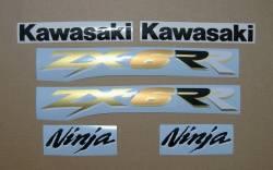 Kawasaki ZX-6RR 600 ninja 2003 green replacement decals
