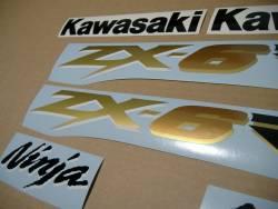 Kawasaki ZX-6RR 600 ninja 2003 green replacement graphics