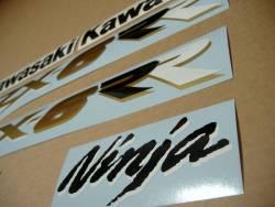 Kawasaki ZX6RR ninja race replica 2003 green stickers