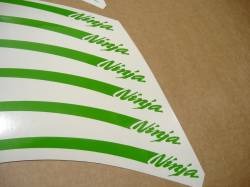 Kawasaki ZX9R ninja lime green wheel/rim stripes decals set