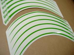 Kawasaki ZX10R ninja lime green wheel/rim stripes decal kit