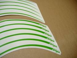 Kawasaki ZX12R ninja lime green wheel/rim stripes decal kit