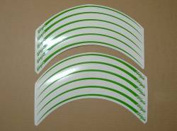 Kawasaki ZX6R ninja lime green wheel/rim stripes decal set