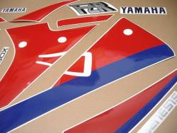 Yamaha FZR 1000 Exup 1990 3GM white replacement stickers set