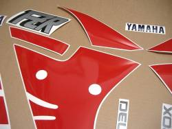 Yamaha FZR 1000 Exup 1990 3GM white reproduction decals