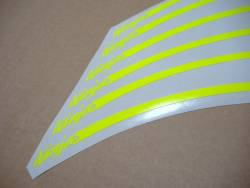 Kawasaki ZXR ninja signal yellow/green wheel stripes stickers