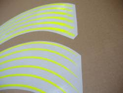 Kawasaki ZXR ninja fluorescent yellow wheel stripes stickers