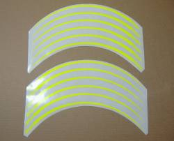 Kawasaki ZXR ninja fluo neon yellow/green wheel stripes stickers