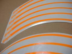 Kawasaki ZX9R ninja neon fluorescent orange wheel/rim stripes