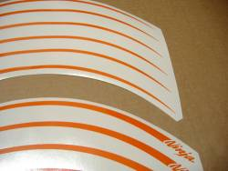 Kawasaki ZX10R ninja custom orange wheel/rim stripes decals