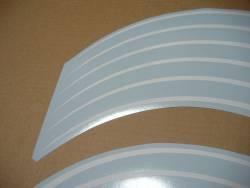 Kawasaki ZX-R ninja white wheel/rim stripes stickers