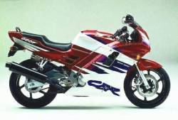 Honda CBR 600f F2 red/white complete decals set
