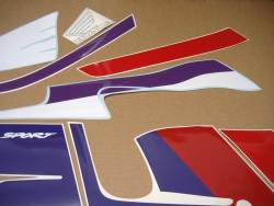 Graphics set for Honda CBR 600 F2 white/red version