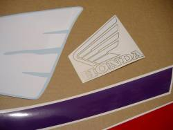 Honda CBR 600 F2 red/purple complete graphics set