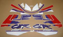 Decals set for Honda CBR 600 F2 white/purple version