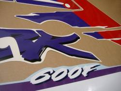 Honda CBR 600 F2 purple/white replacement decals set
