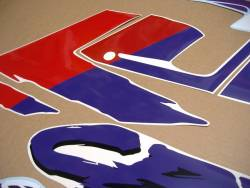 Honda CBR 600 F2 purple/white restoration decals set