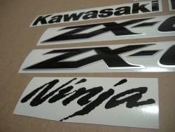 Kawasaki ZX-6RR ninja 2004-2005 reproduction decal set
