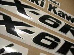 Kawasaki ZX-6RR ninja 2004-2005 restoration decals set