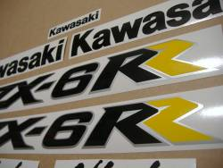 Kawasaki ZX6RR ninja 2005 green complete logo stickers kit