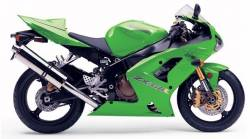 Kawasaki ZX-6RR ninja 04-05 green full logo decals kit