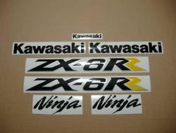 Kawasaki ZX6RR 2005 (green 600 race replica) decals set