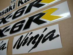 Kawasaki ZX6RR 2005 (green 600 race replica) stickers set